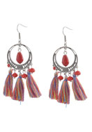www.snowfall-beads.com - DoubleBeads Creation Mini jewelry kit earrings with tassel - DE00195
