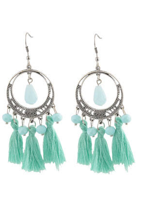 www.snowfall-beads.com - DoubleBeads Creation Mini jewelry kit earrings with tassel