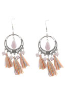 www.snowfall-beads.com - DoubleBeads Creation Mini jewelry kit earrings with tassel - DE00197