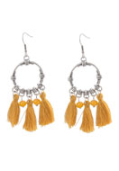 www.snowfall-beads.com - DoubleBeads Creation Mini jewelry kit earrings with tassel - DE00198