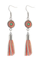 www.snowfall-beads.com - DoubleBeads Creation Mini jewelry kit earrings with tassel - DE00218
