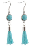 www.snowfall-beads.com - DoubleBeads Creation Mini jewelry kit earrings with tassel - DE00221