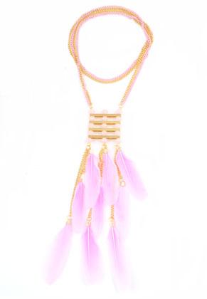 www.snowfall-beads.nl - DoubleBeads Creation Mini sieradenpakket halsketting met veren