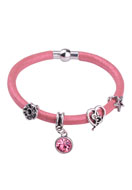 www.snowfall-beads.nl - DoubleBeads Creation Mini sieradenpakket stoffen armband - DE00231