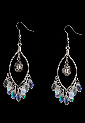 www.snowfall-beads.com - DoubleBeads Creation Mini jewelry kit earrings with glass drops