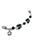 www.snowfall-beads.fr - DoubleBeads Mini Kit de Bijoux Mix & Match cordon ± 8,5cm avec SWAROVSKI ELEMENTS perles et accessoires diverses de métal (pour combiner avec autres articles DoubleBeads Mix & Match)