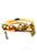 www.snowfall-beads.fr - EasyCharm bracelet wrap de cuir avec pendentifs DQ 14k gold plated 18cm