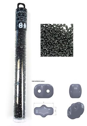 www.snowfall-beads.de - Superduo Tschechisches Glas Rocailles mit 2 Löcher 5x2,5mm (320 St.)