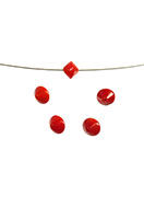 www.snowfall-beads.com - Natural stone beads coral 6x5mm - E00128