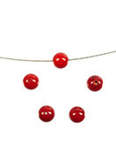 www.snowfall-beads.com - Natural stone beads coral 8mm - E00131