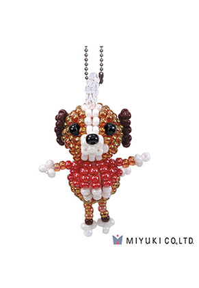 www.snowfall-beads.com - Miyuki jewelry kit Mascot Fan Kit No. 28 Doggy