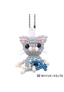 www.snowfall-beads.com - Miyuki jewelry kit Mascot Fan Kit No. 29 Nini - E00172