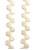 www.snowfall-perles.be - Honeycomb perles en verre Tchèque avec 2 trous 6x3mm (30 pcs. par cordon)