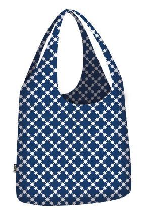 www.snowfall-beads.nl - Ecozz ecoshopper Little Big Bag Squares Blue