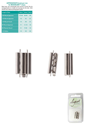 www.snowfall-beads.com - Metal Elegant Elements slide end tube clasp 18x10mm