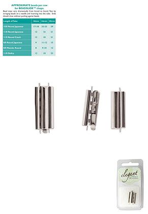 www.snowfall-beads.co.uk - Metal Elegant Elements slide end tube clasp 29x10mm