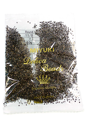 www.snowfall-beads.com - Miyuki Delica glass seed beads 11/0 1,6x1,3mm DB0007 (10000 pcs.)