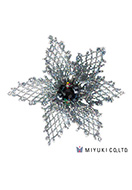 www.snowfall-beads.com - Miyuki jewelry kit brooch BFK-103 Grace Brooch - E00420
