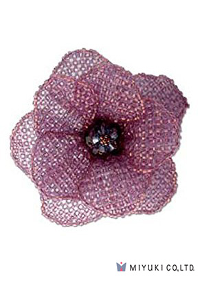 www.snowfall-perles.be - Miyuki kit de bijoux broche BFK-104 Misty Purple Corsage