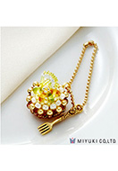www.snowfall-beads.com - Miyuki jewelry kit charm cake Sweets Charm No. 21 Fresh Lemon Tart - E00426