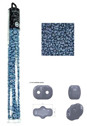 www.snowfall-beads.fr - Superduo rocailles en verre Tchèque avec 2 trous 5x2,5mm (320 pcs.)