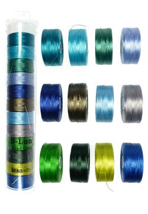 www.snowfall-beads.nl - Mix S-Lon Bead Cord/nylondraad 35 tex, 70m per rol en 0,09mm dik