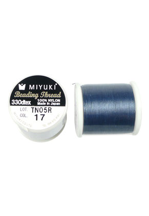 www.snowfall-beads.com - Miyuki Beading Thread/ nylon thread MNT-17, 330dtex 0,2mm (50m per roll)