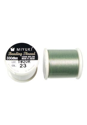 www.snowfall-beads.nl - Miyuki Beading Thread/ nylondraad MNT-23, 330dtex 0,2mm (50m per rol)