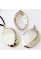 www.snowfall-beads.co.uk - Shell pendant ± 33-40x20-23mm - E00711