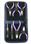 www.snowfall-beads.co.uk - Beadsmith 7-pc miniature tool set/set of pliers - E00737