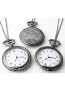 www.snowfall-beads.com - Metal necklace 75cm with clock/watch 68x47mm - E00808