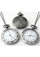 www.snowfall-fashion.com - Metal necklace 75cm with clock/watch roman numerals 64x47mm - E00810