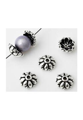 www.snowfall-beads.es - Casquilla de 925 plata 9x4mm