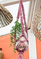 www.snowfall-beads.be - Hoooked DIY macramé pakket Hanging basket Jute - E01301
