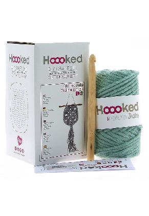 www.snowfall-beads.nl - Hoooked DIY haakpakket Wandhanger Elx Jute