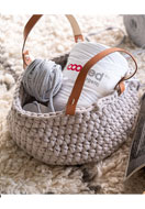 www.snowfall-beads.com - Hoooked DIY Crochet kit Zpagetti basket Panama - E01311