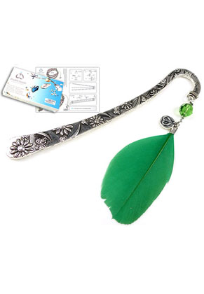 www.snowfall-beads.be - DoubleBeads Sieradenpakket Daydreamer boekenlegger 12cm met SWAROVSKI ELEMENTS