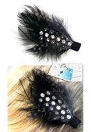 www.snowfall-beads.be - DoubleBeads Sieradenpakket Chic Feather haarspeld 8cm met SWAROVSKI ELEMENTS - E01383