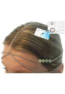 www.snowfall-beads.be - DoubleBeads Sieradenpakket Cleopatra haarsieraad ± 60cm met SWAROVSKI ELEMENTS - E01387