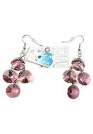 www.snowfall-beads.be - DoubleBeads Sieradenpakket Galaxy oorbellen ± 6cm met SWAROVSKI ELEMENTS - E01468