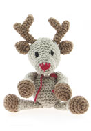 www.snowfall-beads.co.uk - Hoooked DIY Crochet kit Reindeer Rue - E01473