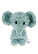 www.snowfall-beads.co.uk - Hoooked DIY Crochet kit Elephant Mo - E01474