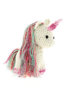 www.snowfall-beads.com - Hoooked DIY Crochet kit Unicorn Nora - E01475