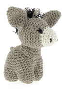 www.snowfall-beads.co.uk - Hoooked DIY Crochet kit Donkey Joe - E01476