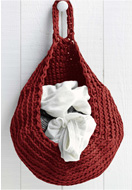 www.snowfall-beads.co.uk - Hoooked DIY Crochet kit Zpagetti storage bag - E01482