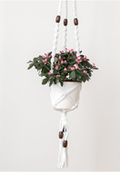 www.snowfall-beads.co.uk - Hoooked DIY macrame kit Zpagetti plant hanger - E01486