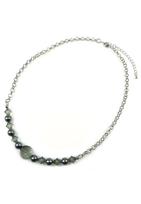 www.snowfall-beads.com - DoubleBeads Jewelry Kit Sparkle Daily necklace ± 47-55cm with SWAROVSKI ELEMENTS