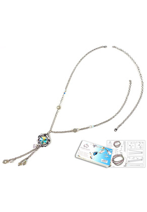 www.snowfall-beads.com - DoubleBeads Jewelry Kit Frozen necklace ± 47-69cm, with SWAROVSKI ELEMENTS