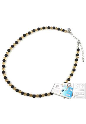 www.snowfall-beads.com - DoubleBeads Jewelry Kit Magma necklace ± 46-53cm, with SWAROVSKI ELEMENTS