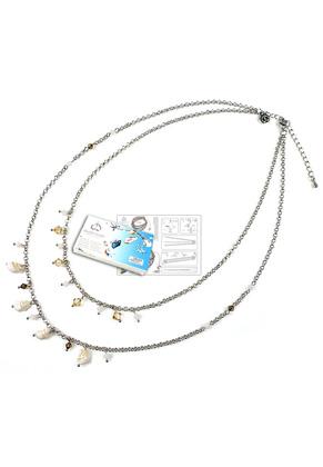 www.snowfall-beads.fr - DoubleBeads Kit de Bijoux To The Beach collier ± 45-53cm, avec SWAROVSKI ELEMENTS